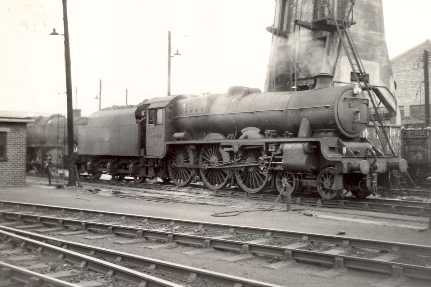 45552 Silver Jubilee at Bushbury shed in 1964