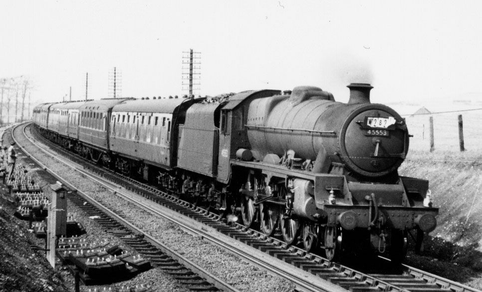45553 Canada at Morecambe Sth Junction, 18 April 1960