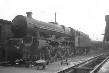 45553 Canada taken at Carnforth shed on 28 July 1962