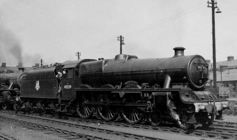 45559 British Columbia at Polmadie on 9 May 1953