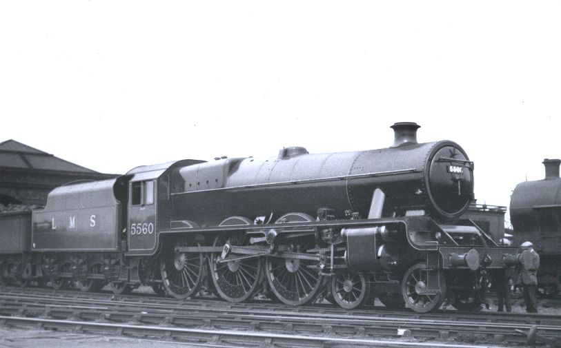 45560 at Crewe works, 22 July 1934, prior to naming