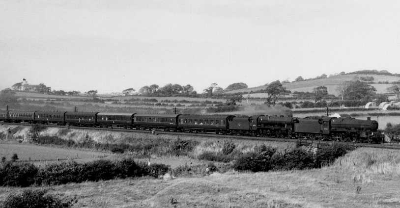 45563 Australia with 46102 Black Watch at Lancaster, 16 September 1961