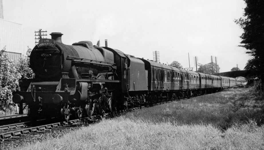 45565 Victoria at Appleby, 31 July 1965