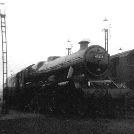 45573 Newfoundland in ex-works condition at Crewe North, 25 August 1963