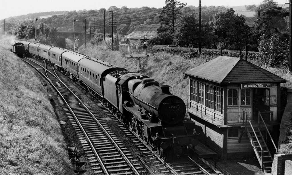 45573 Newfoundland at Wennington, 12 September 1964