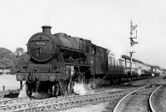 45578 United Provinces at Hanforth Sidings, 4 October 1954