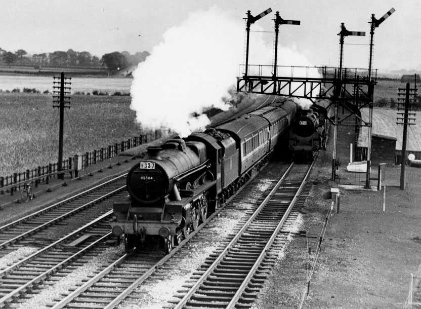 45584 North West Frontier at Winwick Junction on 18 September 1954