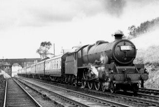 45585 Hyderabad at Hazel Grove, 31 May 1954