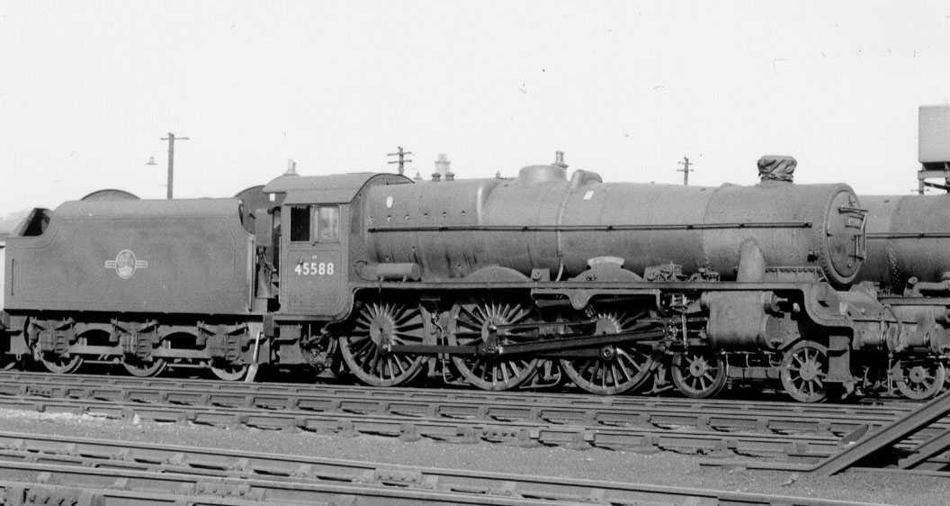 45588 Kashmir at Kingmoor MPD, 6 October 1962