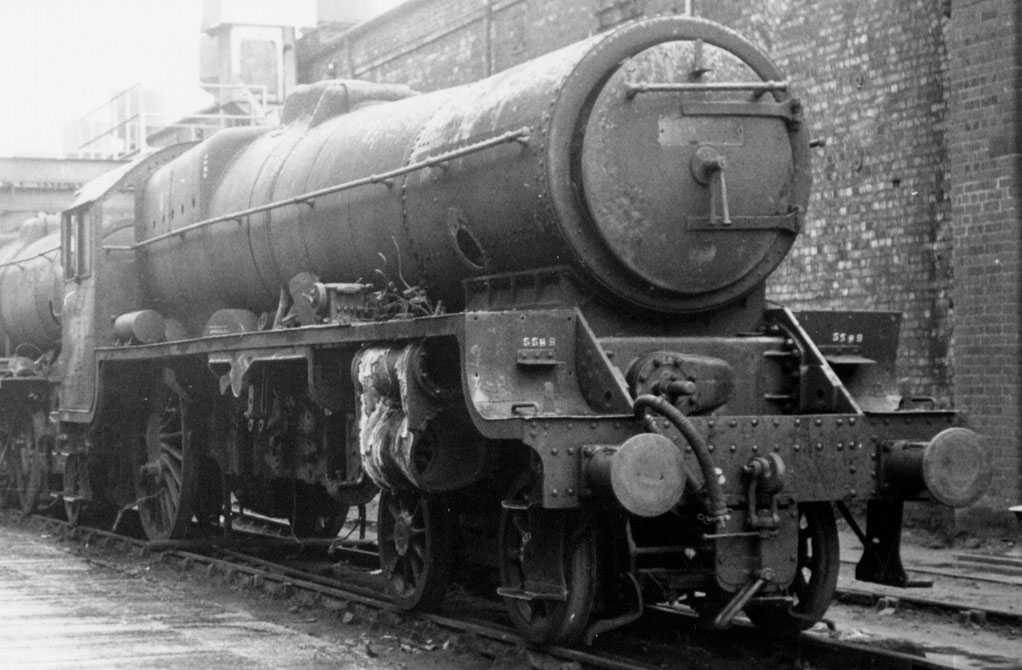 45589 Gwalior at Crewe Works