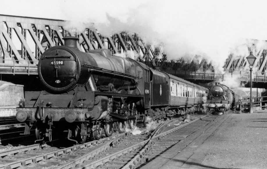 45590 Travancore at York, 1 November 1951