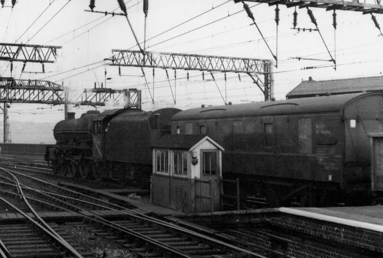 45590 Travancore at Stockport Edgeley on 27 October 1964