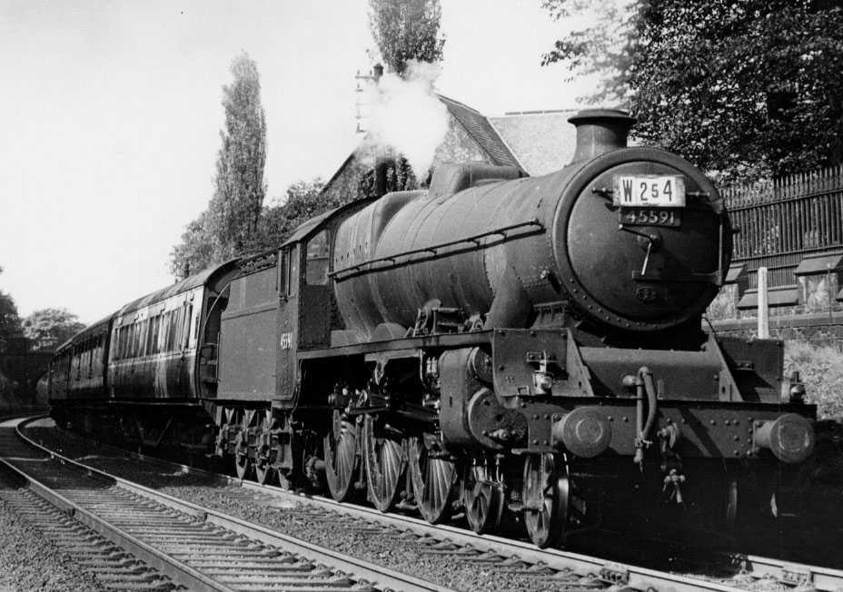 45591 Udaipur at Lancaster, 12 September 1959