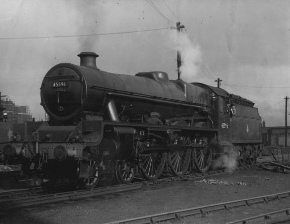 45596 Bahamas on the turntable at the west end of Leeds City station
