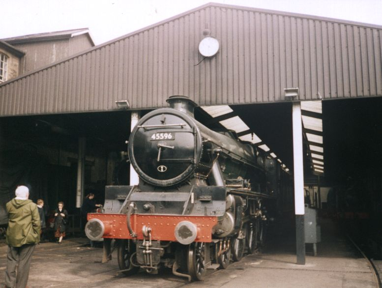 45596 Bahamas on shed at Haworth, Keighley & Worth Valley Railway