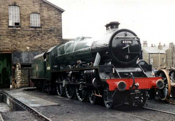 45596 Bahamas preserved at Haworth on the Keighley & Worth Valley Railway