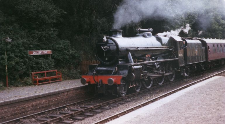 45596 Bahamas at Shackerstone, Battlefield Line, 21 August 1996