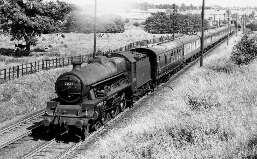 45597 Barbados at Melton Junction, July 1958