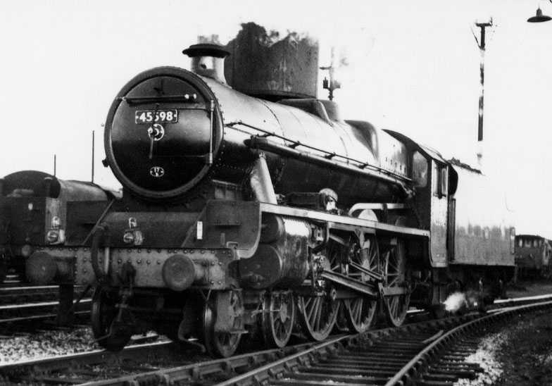 45598 Basutoland at Shrewsbury on 12 July 1963