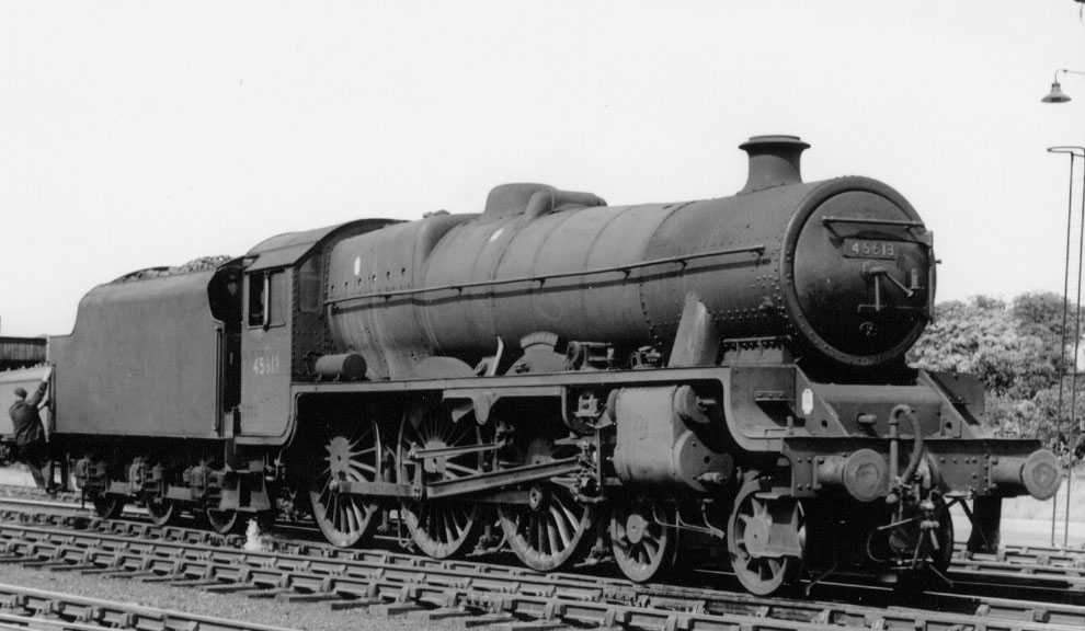 45613 Kenya at Kingmoor MPD, 13 June 1964