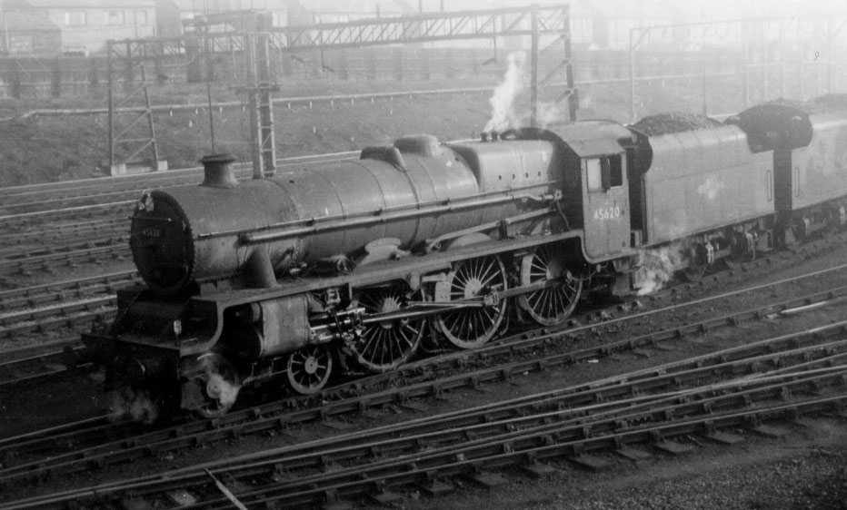 45620 North Borneo at Stockport Edgeley MPD on 10 March 1964