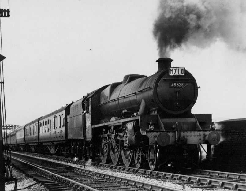 45628 Somaliland at Heaton Mersey, 22 March 1951