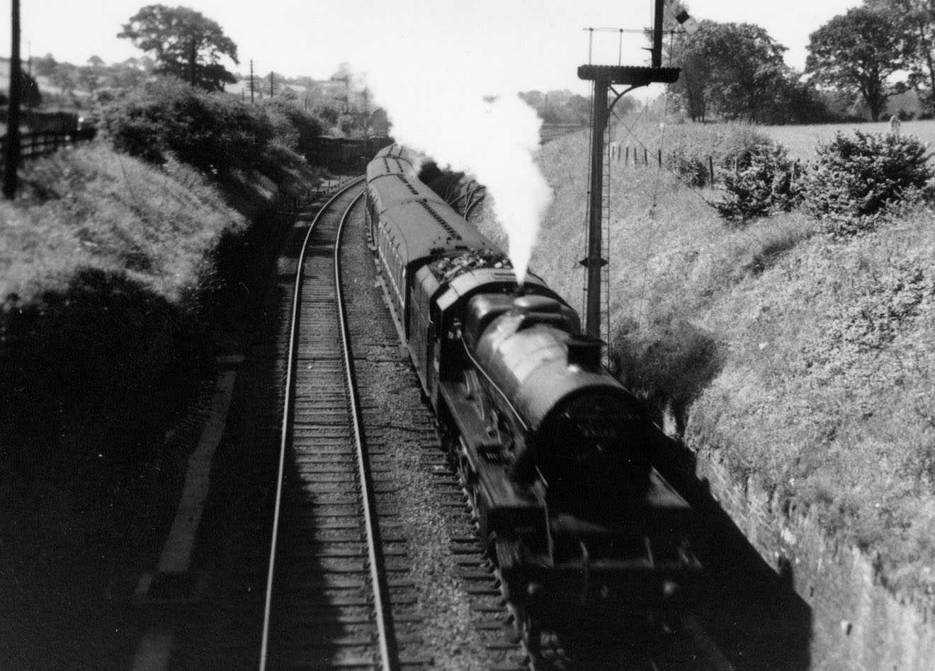 45642 Boscawen at Mangotsfield North Junction in 1952