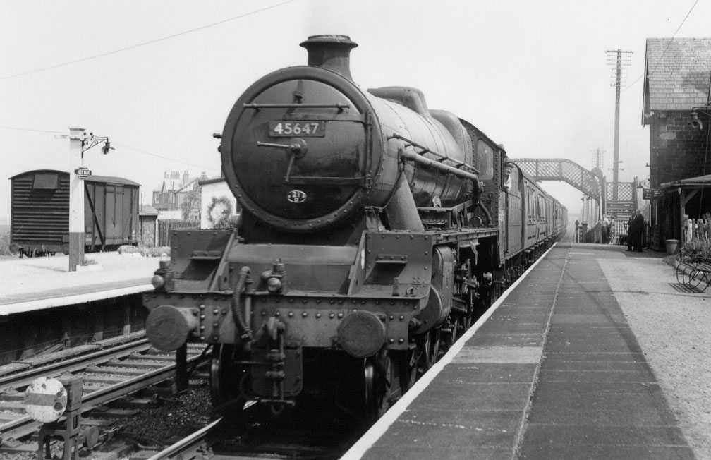 45647 Sturdee at Hest Bank, 7 June 1962