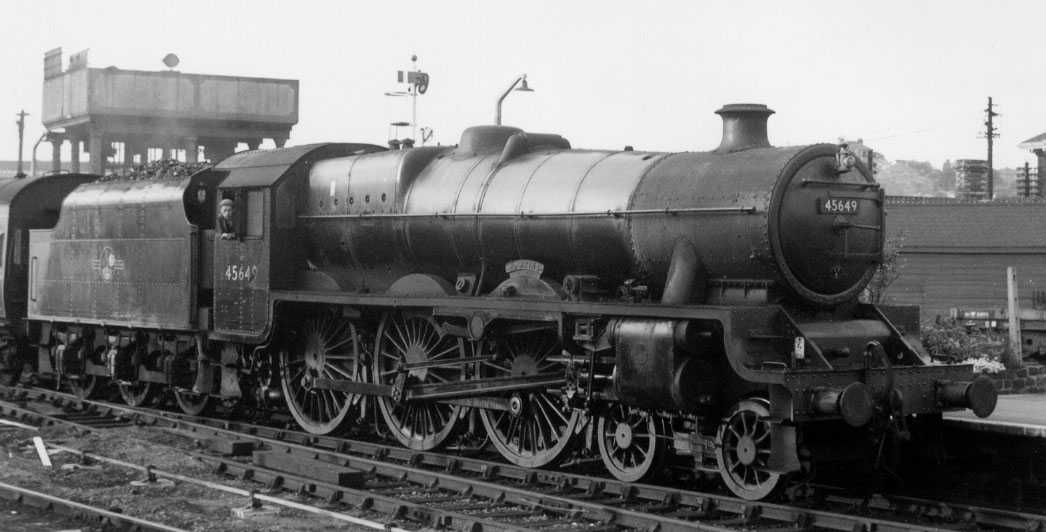 45649 Hawkins at Worcester, 28 July 1960