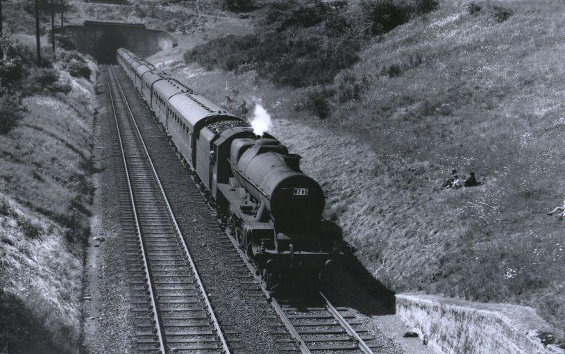 45653 Barham at Hunsbury Tunnel in 1959