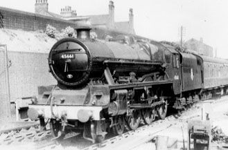 45661 Vernon at Eccles station, June 1957