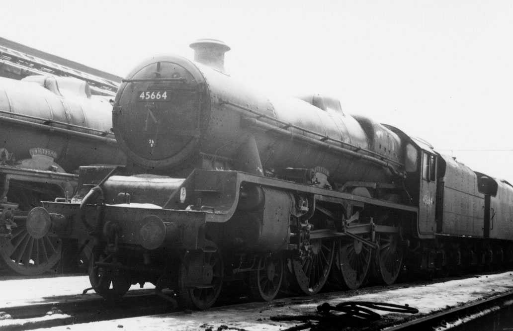 45664 Nelson at Agecroft MPD on 27 December 1962