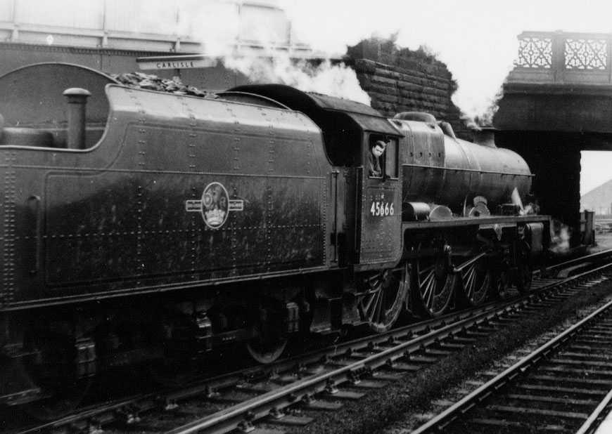 45666 Cornwallis at Carlisle on 6 March 1963