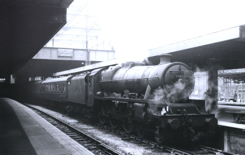 45672 Anson at Euston, 31 March 1964