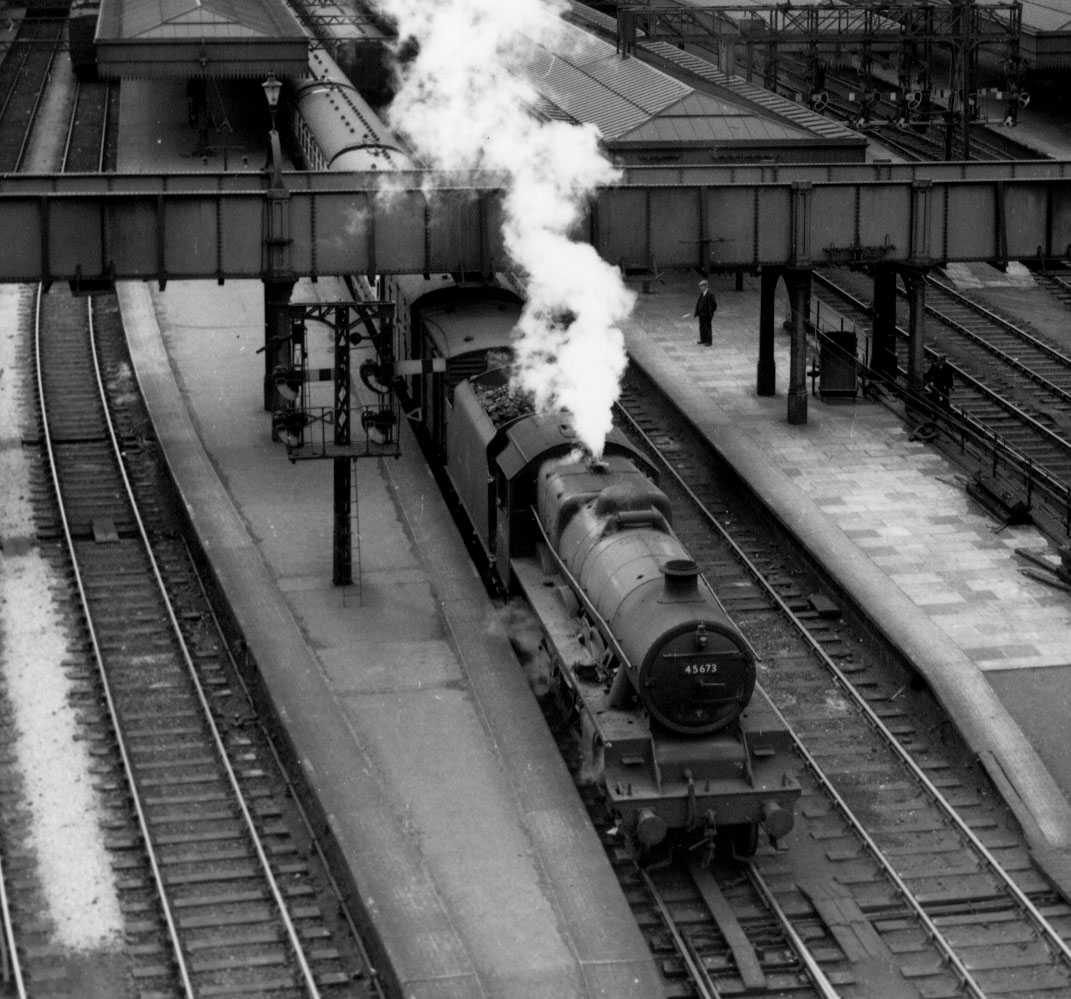45673 Keppel at Aberdeen on 21 July 1954