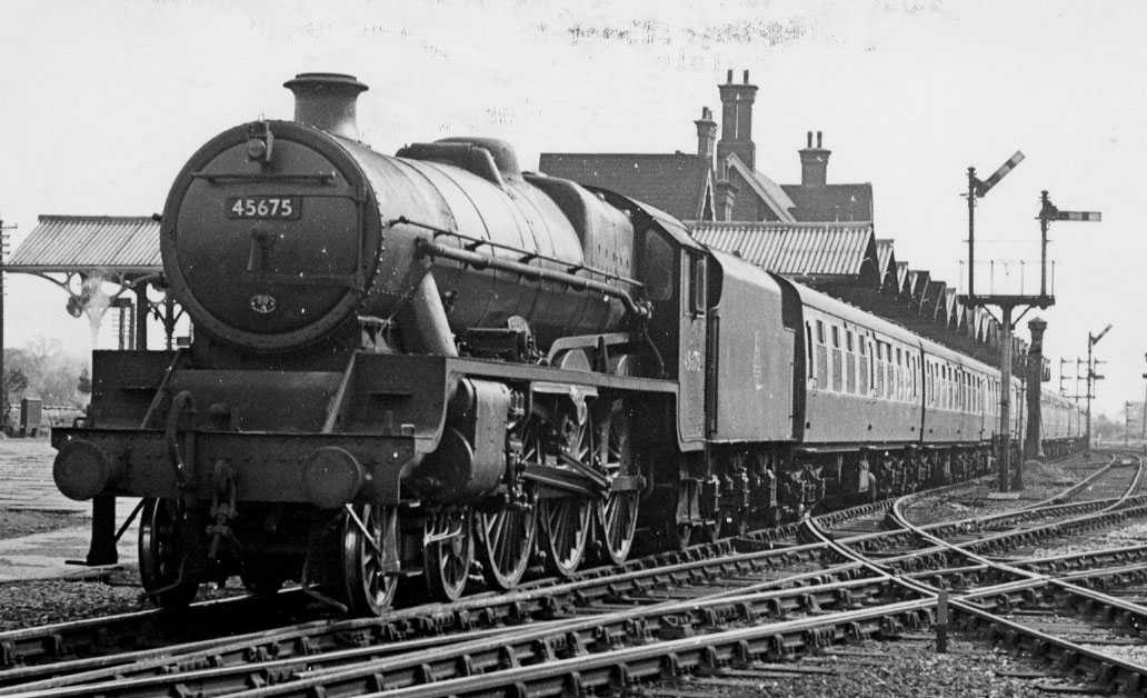 45675 Hardy at Trent Junction in 1956