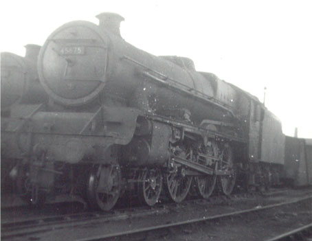 45675 Hardy at Leeds Holbeck on 14 Feb 1965