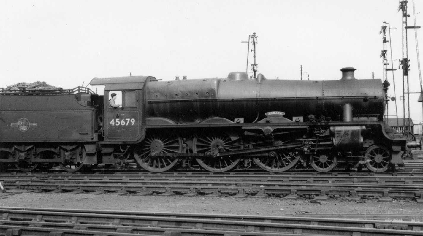 45679 Armada at Bletchley MPD on 24 April 1960
