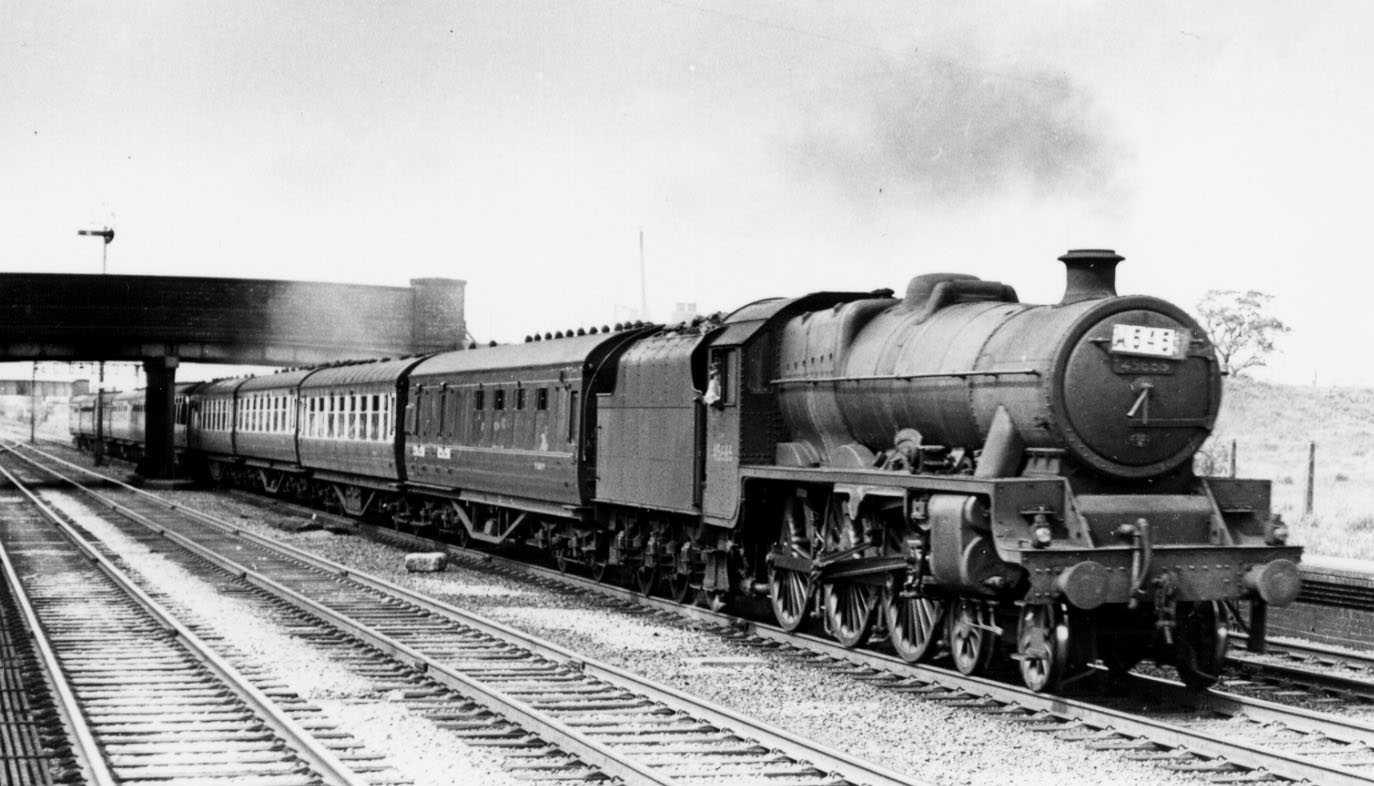 45685 Barfleur at Minshull Vernon on 26 May 1958