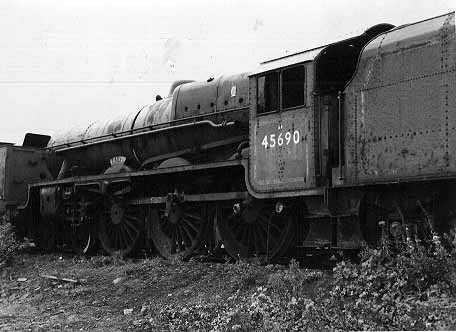 45690 Leander at Barry scrapyard, prior to preservation