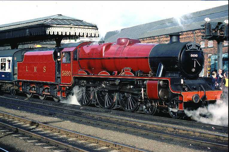 5690 Leander at York, hauling the Scarborough Spa Express