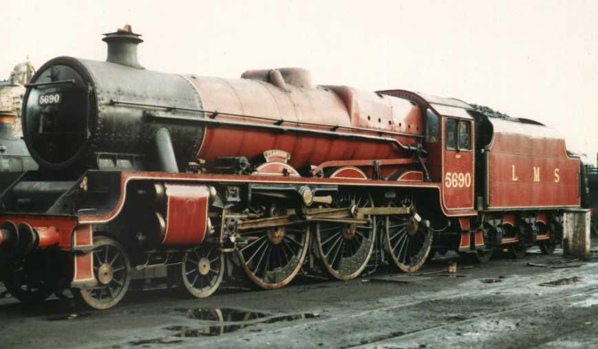 5690 Leander at Bridgnorth, Severn Valley Railway, October 1986