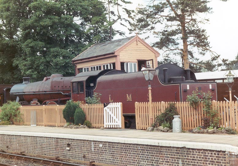 5690 Leander on Severn Valley Railway on 29 May 1994 whilst out of service at Arley station