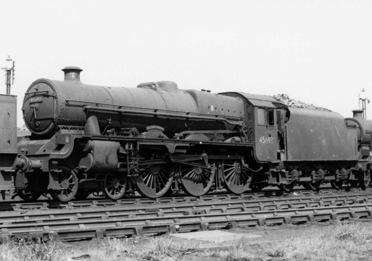 45693 Agamemnon at Corkerhill MPD on 18 August 1962