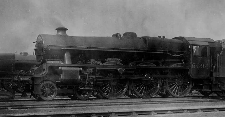 5694 Bellerophon at Crewe, 4 April 1936