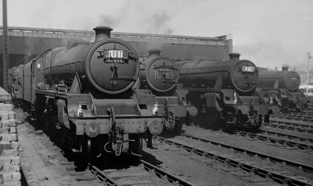 45694 Bellerophon  at Blackpool Central MPD, 29 June 1964