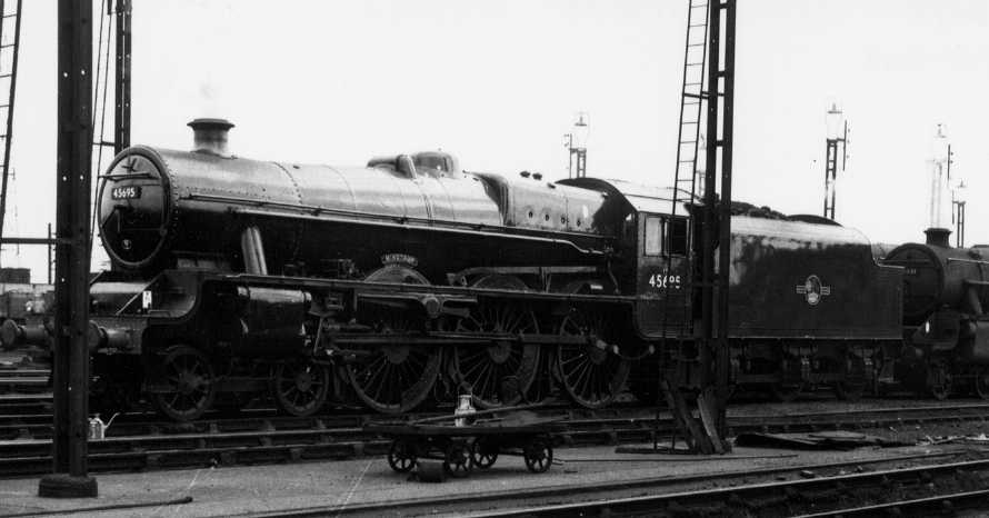 45695 Minotaur at Crewe North, 11 March 1962