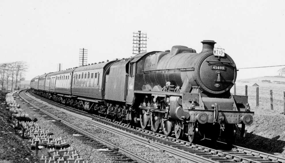 45698 Mars at Morecambe Sth Junction, 15 April 1960