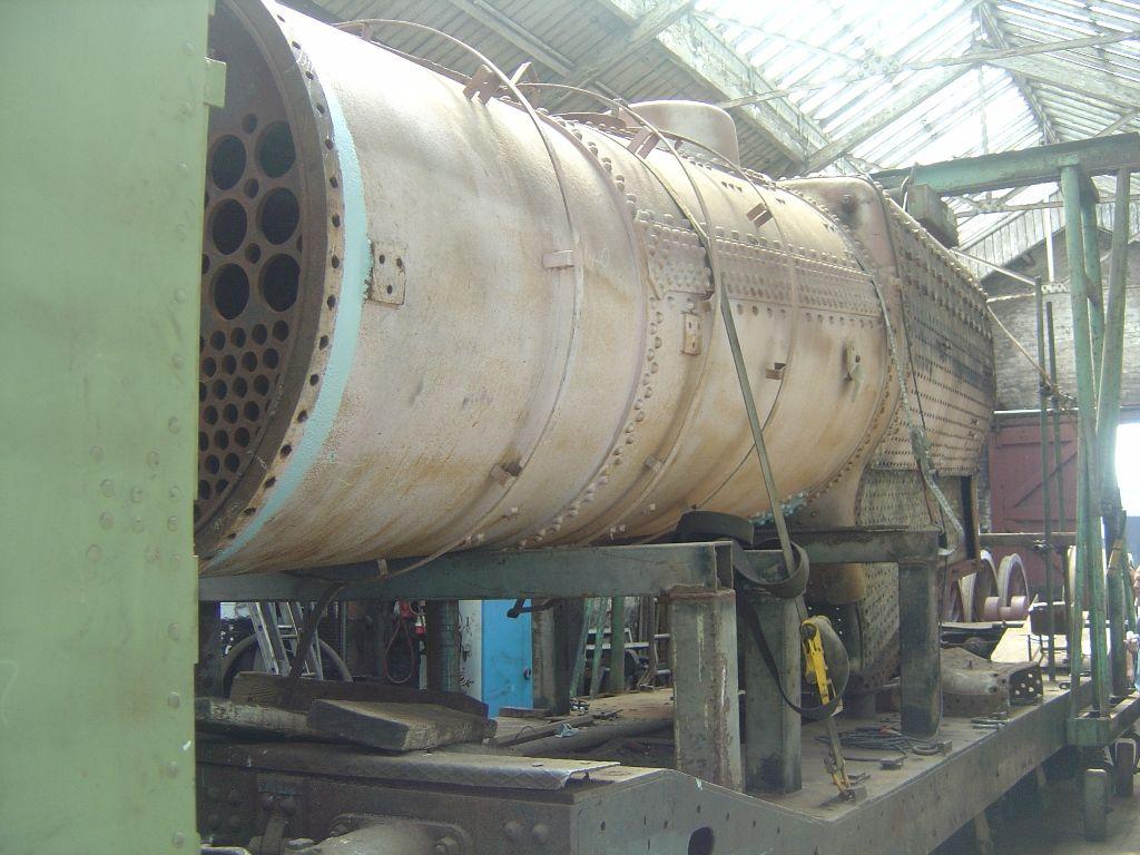 45699 Galatea - boiler at Carnforth, 26 July 2008
