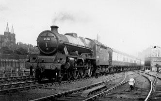 45701 Conqueror at Eccles Junction, June 1956